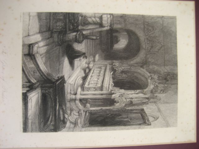 THE GRAVE of PRIDE, G CATTERMOLE, E RADCLYFFE, PRINT MOUNTED
