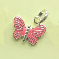 Links of London Butterfly charm in pink color #jewellerydesign