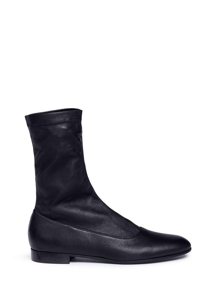 Alumnae Nappa leather slip-on sock boots