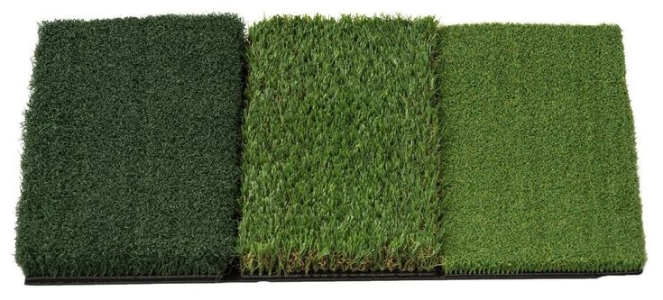 Take the course with you to the driving range with this mat attack tri-turf portable golf hitting mat by Rukket Sports