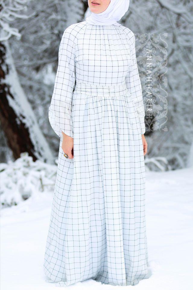 Gingham Dress Maxi modest gingham dress www.annahariri.com