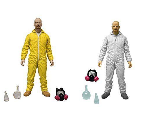 Mezco Toyz Breaking Bad: Walter White in Yellow & White Hazmat Suits Action Figure @ niftywarehouse.com #NiftyWarehouse #BreakingBad #AMC #Show #TV #Shows #Gifts #Merchandise #WalterWhite