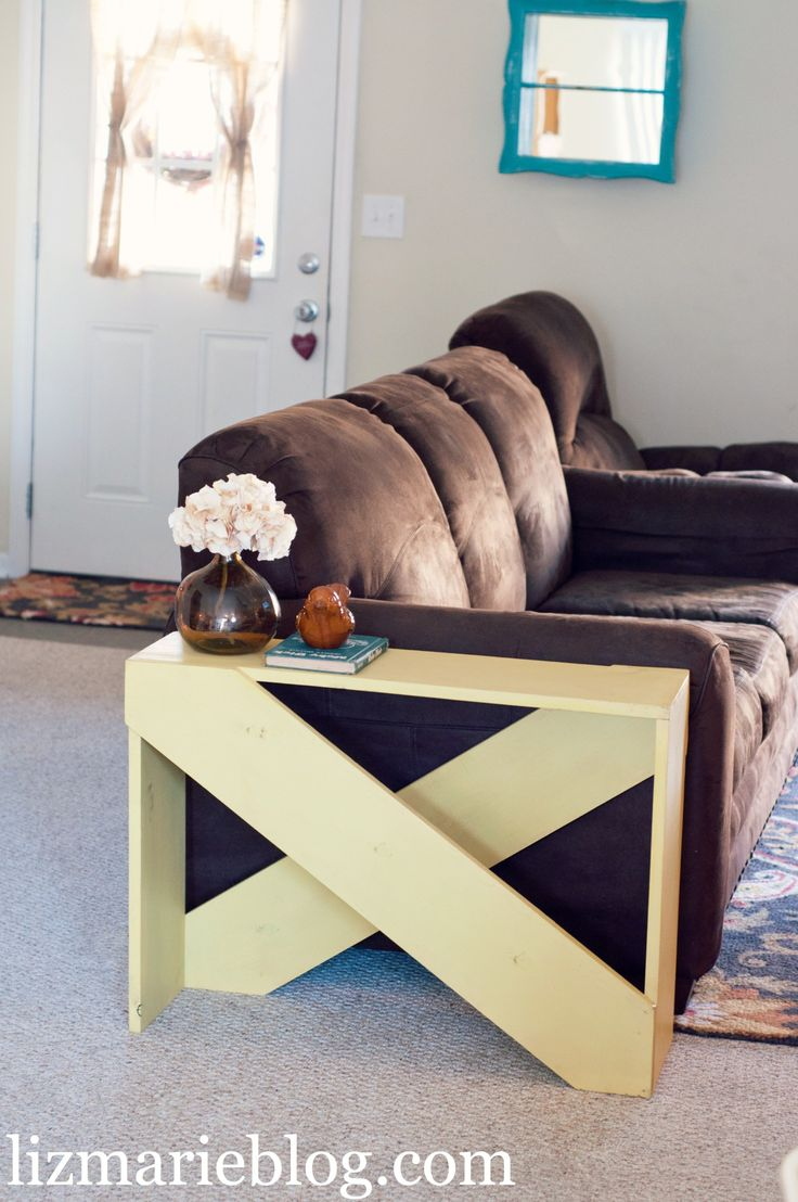 How to make a sofa table out of floor boards - Diy 5 Board End Table