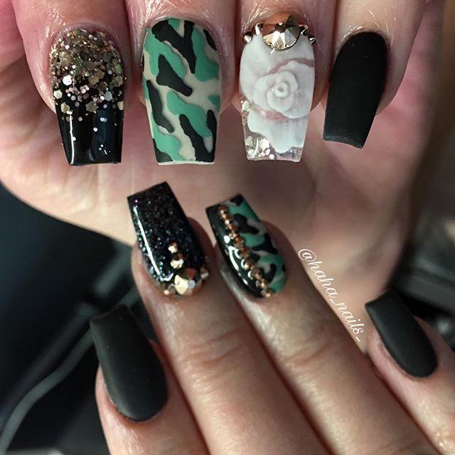 31 Camouflage Nail Designs ✨ CherryCherryBeauty.com - Best 25+ Camouflage Nails Ideas On Pinterest Camo Nails, Camo