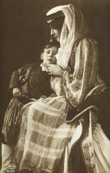 Princess Marie Bonaparte, wife of Prince George of Greece and Denmark. Here with her son Prince Peter of Greece and Denmark.