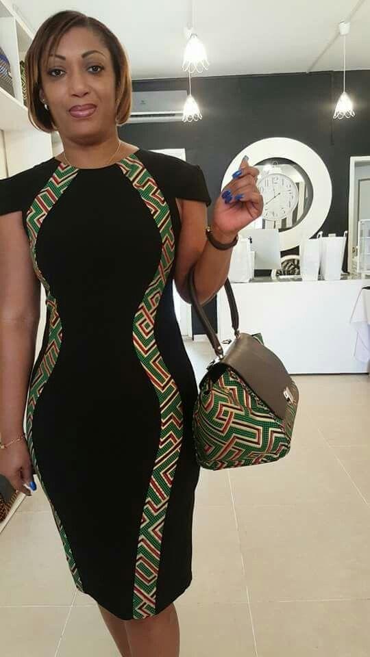 Print office dress