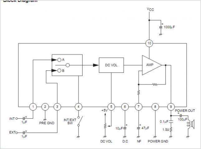 La4285 Circuits Audio Amplifier Electronic Parts Circuit