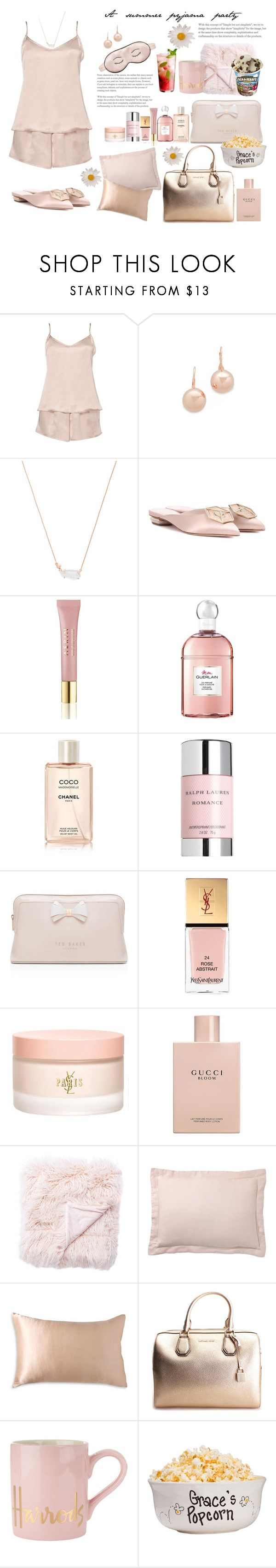 """""""A summer pyjama party 3 🌸"""" by l-bourdon ❤ liked on Polyvore featuring Dorothy Perkins, Bronzallure, Kendra Scott, Nicholas Kirkwood, Mary Green, AERIN, Guerlain, Chanel, Ralph Lauren and Ted Baker"""