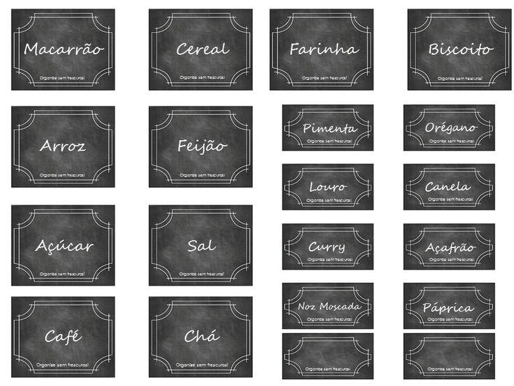 Organize sem Frescuras | Rafaela Oliveira » Arquivos » Etiquetas para ajudar na organização