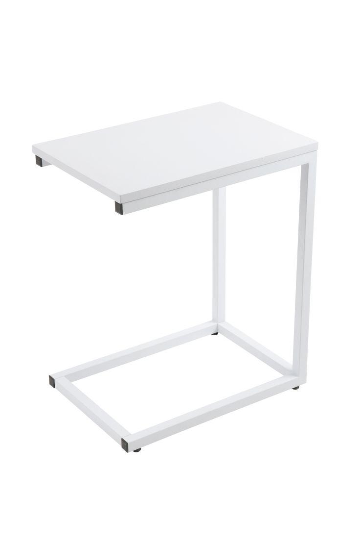 Pent sidebord ved sofaen eller praktisk som nattbord. Materiale: Lakkert metall og mdf. Størrelse: Lengde 50 cm, bredde 35 cm, høyde 60 cm. Beskrivelse: Bord i lakkert metall og mdf. Tips & råd: Et lite bord er praktisk for bøker og tidskrifter. Eller skap et vakkert stilleben med en blomstervase eller skål.