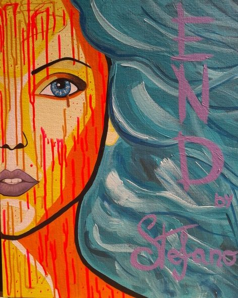 End by STEFANO acrylic on canvas fashion art Lady Gaga 2014 portrait,painter,art,fineart,moderpainting,fashion,acrylic,canvas,ladygaga,fashionart