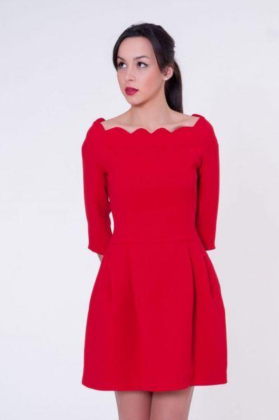 vestido corto rojo d evuelo de blancaspina online