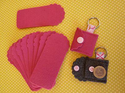 stampin up Stanzteile Two Tags aus Filz, kleine Tasche pink