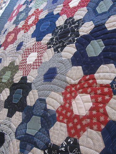 Japanese Flower Garden Quilt by QOB, via Flickr