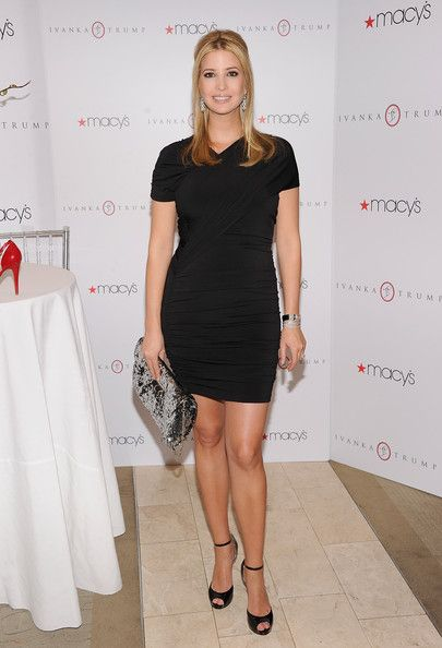 Ivanka Trump Pumps - Ivanka Trump donned black patent ankle strap pumps from her collection at the Macy's launch of Ivanka Trump Footwear.