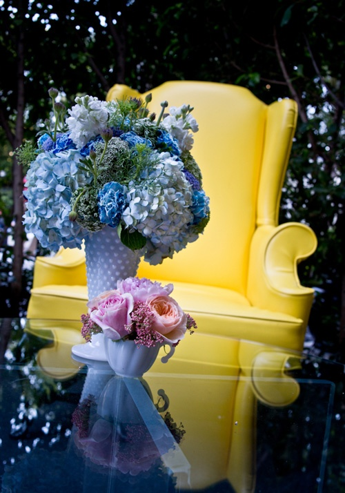 baby shower for boy girl twins in blue and yellow features beautiful flowers