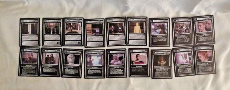 Star Trek CCG Decipher Set of 18 Event Cards TNG 1996 Near Mint #ParamountPictures