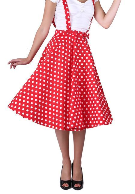 Liesel Red Polka Dot Circle Skirt from Collectif