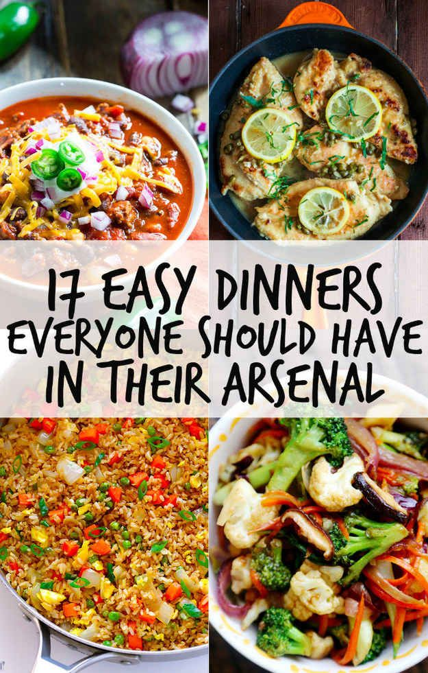 17 Easy Dinners Everyone Should Have In Their Arsenal