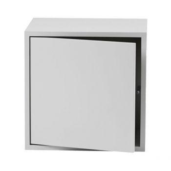 Muuto's Stacked module with door, medium, light grey