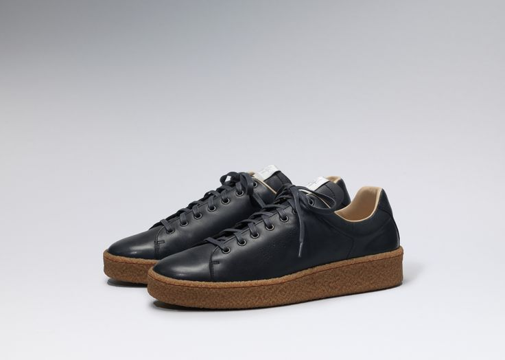 #Eytys Ace Leather in Navy/Gum.