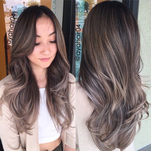 Was tired of my hair having warm orange/yellow tones from trying to go light for the summer... So @ayahair04 helped me go to a darker ashy brown/blonde