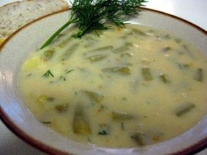 Basque Potato And Green Bean Soup With Garlic