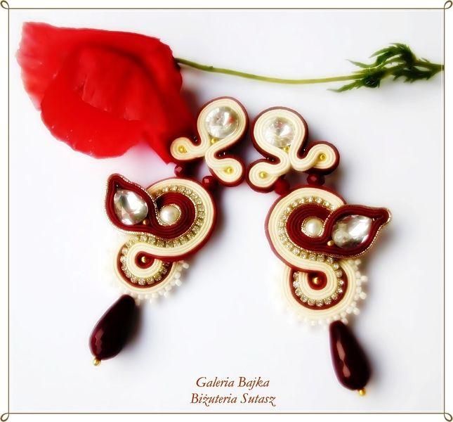 """Kolczyki sutasz (soutache)  """"Portofino"""" w Galeria Bajka Soutache Jewelry na DaWanda.com"""