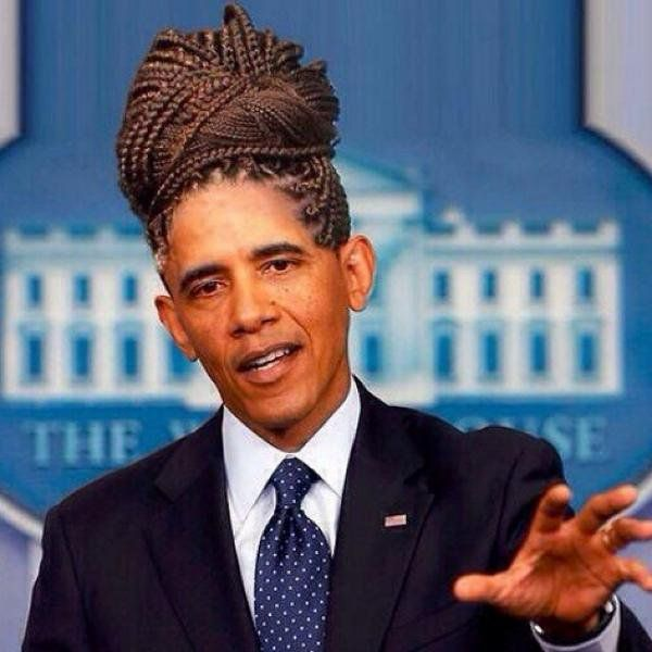 These Photoshopped Obama Haircuts Are Hilarious: cornrows | Bossip