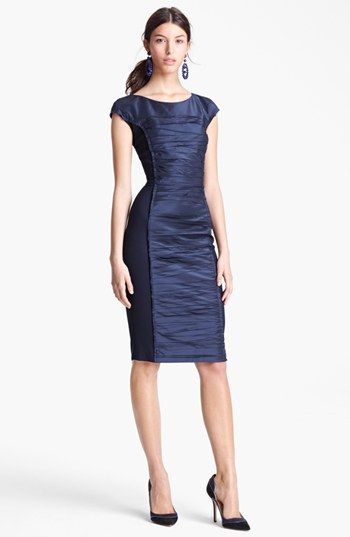 Oscar de la Renta Ruched Front Jersey Dress available at #Nordstrom