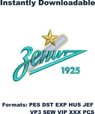 Zenit Saint Petersburg logo embroidery design
