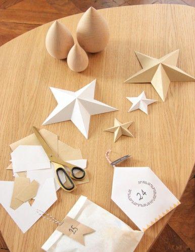 des étoiles en papier, diy etoile en papier, décoration de noel diy, christmas decoration @zugalerie