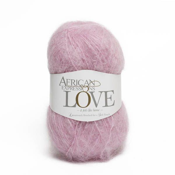 Colour Love Light pink, Chunky weight,  African expressions 3039, knitting yarn, knitting wool, crochet yarn, kid mohair yarn, merino wool, natural fibres yarn.