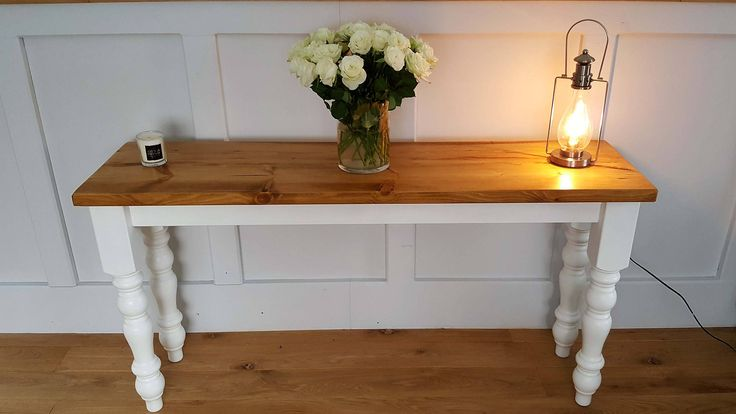 Rustic Console Table Entrance Table Hall Table Side Table T.V Display Unit/Table Vintage Shabby Chic Console Table Farmhouse Console Table by BilberryHandCrafted on Etsy