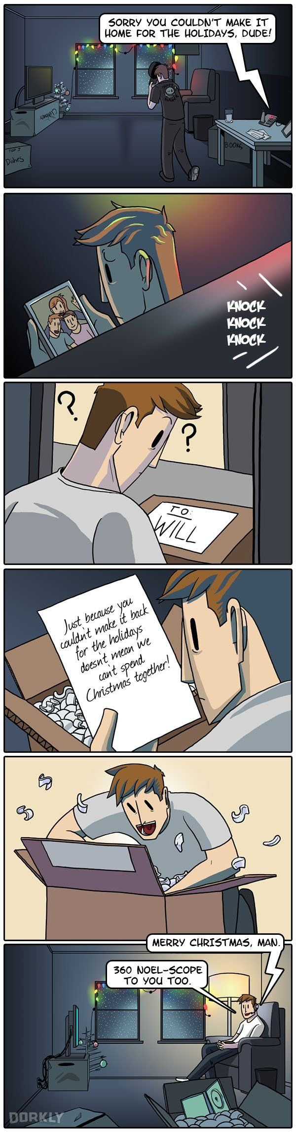 """""""The Greatest Gift of All"""" #dorkly #geek #comics"""