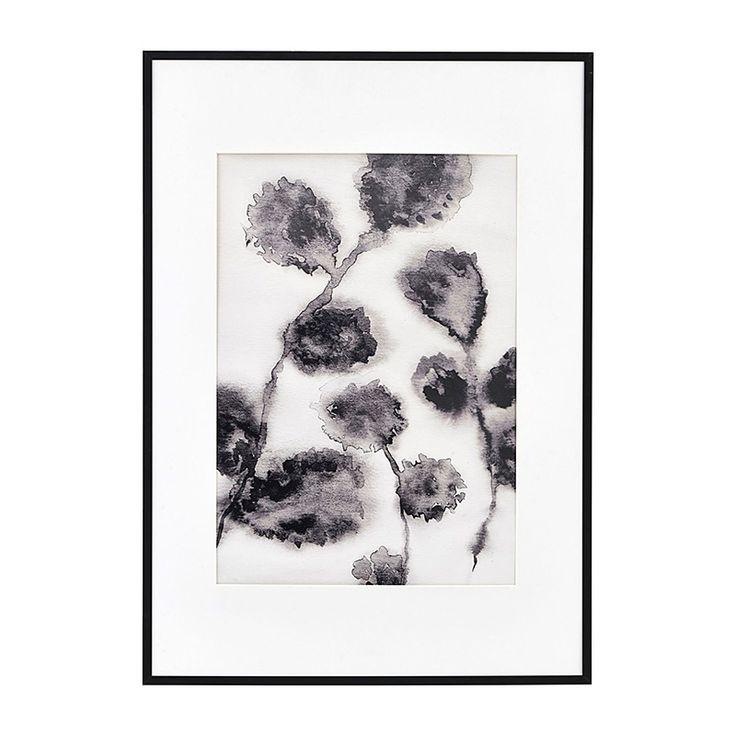 Illustration mit Rahmen Floral Black 42x59 cm von house doctor