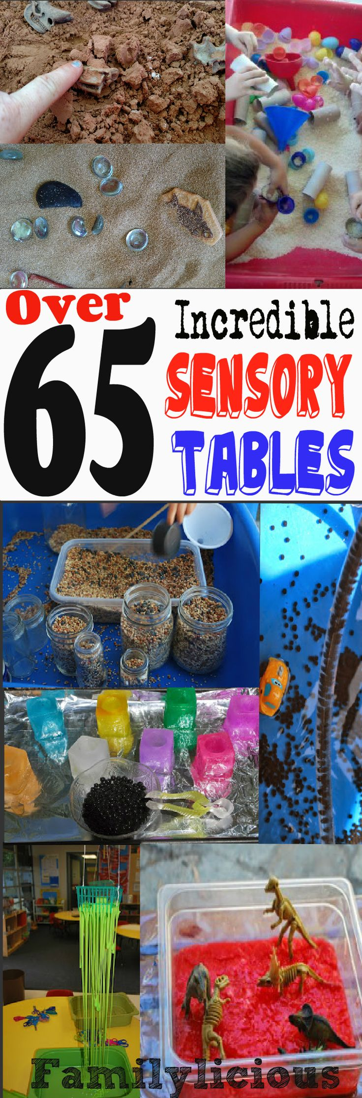 Over 65 Incredible Sensory Tables with oodles of recipes and amazing STEM activities
