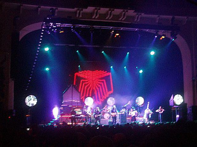 Arcade Fire performing at Nottingham Arena on 15 March 2007