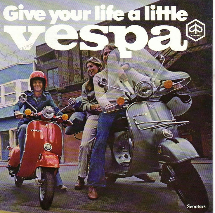 give your life a little vespa #scooter