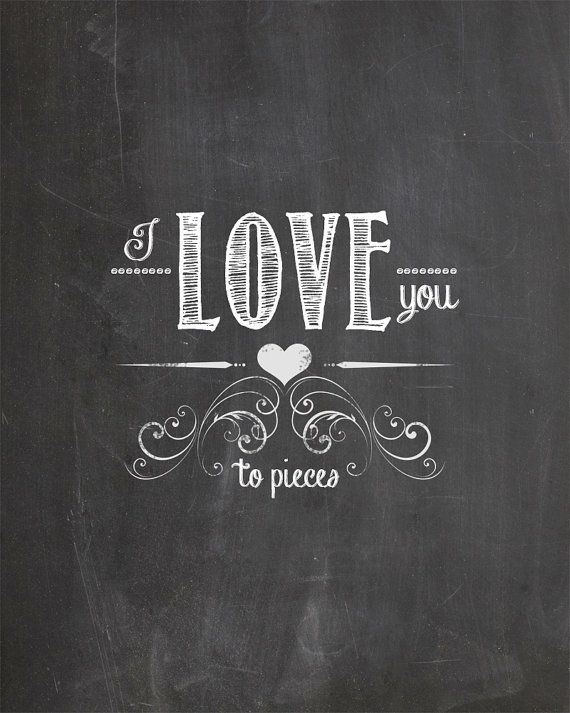 I Love You Perfectly Chalkboard Art by AltusPhotoDesign on Etsy, $3.00