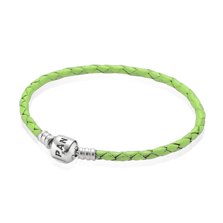 Green Single Leather Bracelet | PANDORA, Bracelet, Green leather, single, sterling silver clasp, CA$38.98 45% OFF, Buy Now: http://www.pandoracanada2013.com/pandora-green-bracelet.html