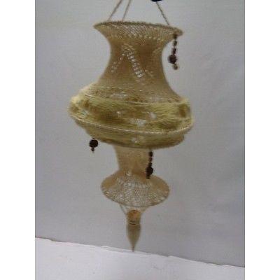abat jour lampe macrame laine crochet vintage 1702 21 la39b lampes pinterest crochet. Black Bedroom Furniture Sets. Home Design Ideas
