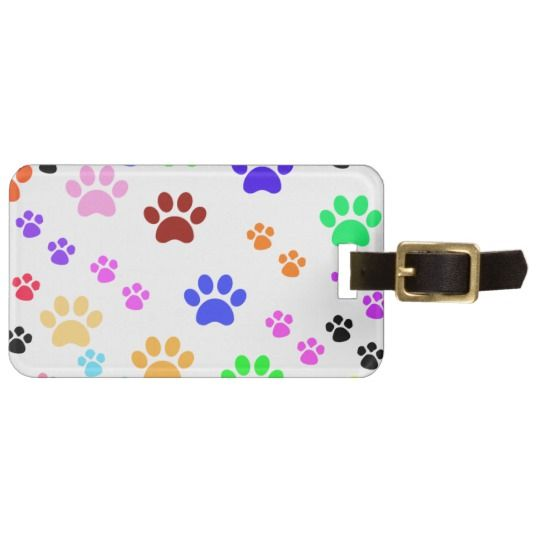 Paw Prints, Personalize Luggage Tags
