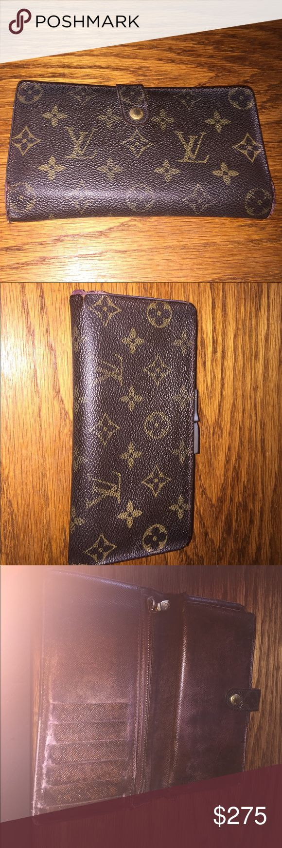 Authentic Louis Vuitton wallet 🔥🔥🔥 price reduced🔥🔥🔥Authentic Louis Vuitton wallet some wear at both corners lots of inside compartments including claspe zipper credit card holders checkbook and cash compartments sighns of wear and little peeling at snap see pics comes with box Louis Vuitton Bags Wallets