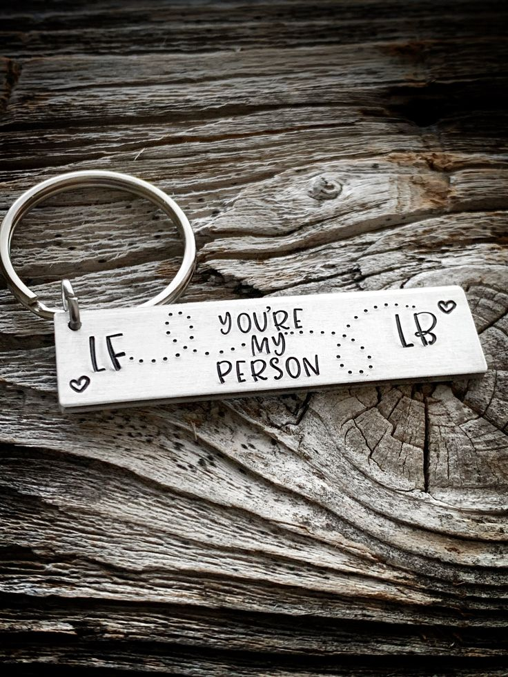 You're my person keychain, best friends gift, gift for boyfriend, gift for girlfriend, boyfriend gift, girlfriend gift, couples keychain