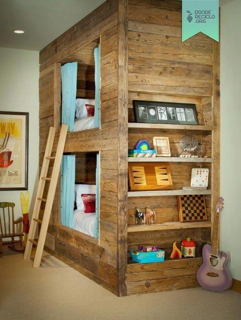 hermosas camas cuchetas para nios hechas con madera de palets