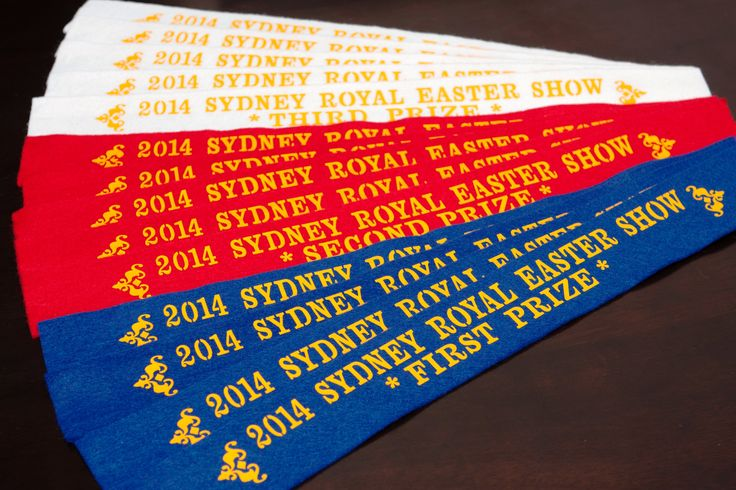 First, Second and Third prizes from 2014 Sydney Royal Easter Show