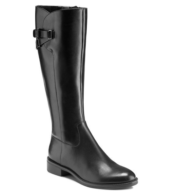 ECCO Hobart Strap Tall Boot (BLACK)
