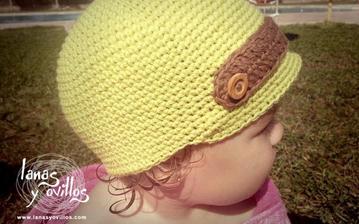 Mejores 14 imágenes de Gorros en Pinterest | Sombrero de crochet ...