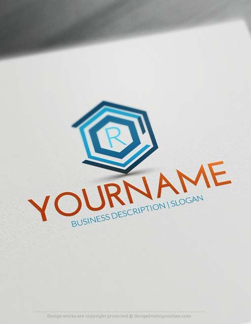 Online Geometric Company Logo design - Make a Logo with our Free Logo Maker